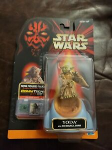 1998 Star Wars Episode One Yoda in Jedi Council Chair Action Figure NEW