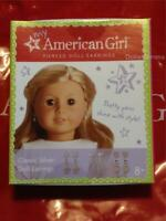 New American Girl Classic Silver Tone doll's Earrings Mix & Match 6 Pairs 3 Stud