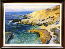 SEASCAPE Oil painting - Guy Orlando ROSE -90x65 cm /stretched