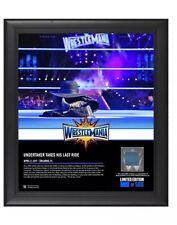 WWE Numbered Undertaker Wrestlemania 33 Framed Plaque Ring Canvas Frame WWF