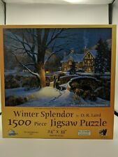 "Winter Splendor by D. R. Laird 1500 Piece Jigsaw Puzzle 24"" x 33"""