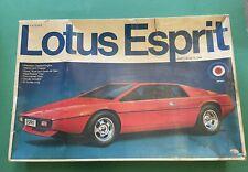 """vintage Entex """"1/16 Scale """"Lotus Esprit Model Car Kit"""""""