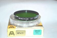 Rokunar NEW 48 mm Green X1 Screw-In Filter Made in Japan w Case &  Box (T-7)