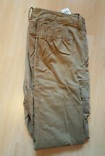 Abercrombie & Fitch Cargo Jogger Chinos Taille: 34 Couleur: kaki 36-37 x 30 BNWT