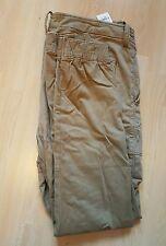 Abercrombie & Fitch Cargo Jogger Pantaloni Chino Taglia: 34 colore: Kaki 36-37 x 30 NUOVO CON ETICHETTA