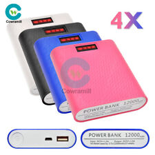 USB Power Bank 12000mAh 4X 18650 Battery Charger Case DIY Box For iPhone Samsung
