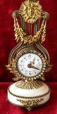 Delightful & Rare French Miniature Lyre Clock