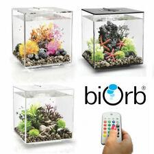 Oase BiOrb Cube 30 Aquarium Fish Tank MCR LED Light Filter Black White Clear 30L