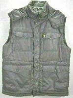Ecko Unltd Mens XL Hooded Puffer Vest Gray Full Zip Polyester