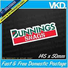 Bunnings Snags Sticker/Decal - Beer Funny Bogan Ute Sausage BBQ Pingas 4 Dayz