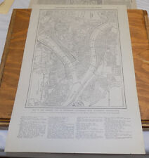 1912 Collier's City Map////PORTLAND, OR, and PITTSBURGH, PA