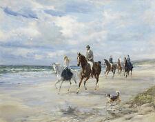Hardy Heywood Riding Along The Beach Print 11 x 14   #3750