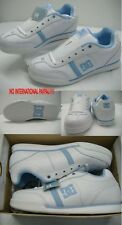 Womens 6 DC Era White Baby Blue Leather Skate Shoes