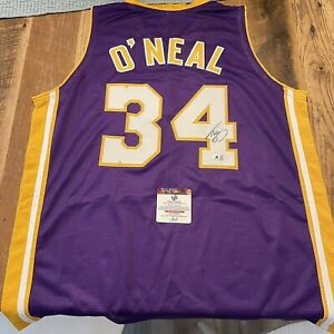 Shaq Shaquille O'Neal Signed Swingman Style LA Lakers Jersey Global Authentics