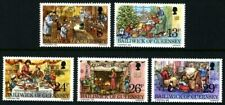 GUERNSEY 1982 CHRISTMAS SET OF ALL 5 COMMEMORATIVE STAMPS MNH (d)