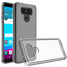 For LG G6 Case Silicone Clear Bumper Hybrid TPU Cover Case Scratch Proof - Clear