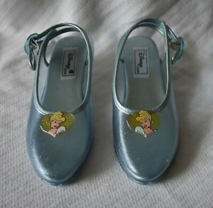 The Disney Store Youth 3-4 Cinderella Light Blue Costume Princess Shoes EUC