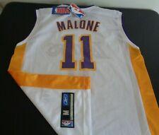 Karl Malone Los Angeles Lakers Basketball Reebok Replica Medium Jersey New White