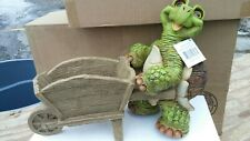 Turtle planters Statue With Trolley Awcl Collection New With Tag