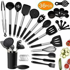 Kitchen Utensil Set, 36PCS Silicone Cooking Utensils with Holder, Heat-Resistant
