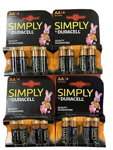 DURACELL AA BATTERIES - DOUBLE A - 4 PACK 1.5V NON RECHARGEABLE