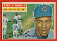 1956 Topps #15 Ernie Banks EX/EX Hall of Fame Chicago Cubs FREE SHIPPING