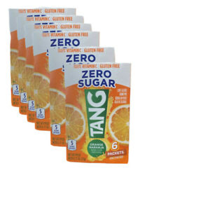 Tang Orange Singles Drink Mix Zero Sugar 6 Boxes (36 Packs) Best by 2022