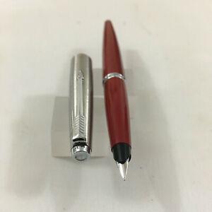 Parker 45 Red Steel chorme  trim FP Steel Fine nib NEW