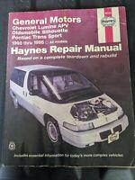 Haynes Repair Manual 1990 thru 1995 GM Lumina APV Silhouette Trans Sport 38035