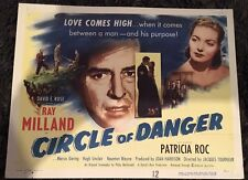 CIRCLE OF DANGER Title Card 51  Ray Milland is a man on a manhunt