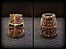 *TEMPLAR HELMET*  HANDMADE Bronze Paracord Knife Leather Lanyard Bead / Beads