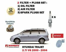 für Hyundai Trajet 2.7 V6 2000-12/2004 NEU ÖL Luftfilter Set + ZÜNDKERZEN SET