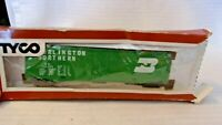 HO Scale Tyco 50' Box Car, Burlington Northern Green, #100024