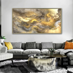Abstract Cloud Sky sun Canvas oil Painting wall art poster home Livingroom décor