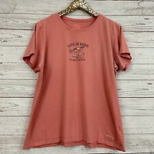 Life is Good sz XL Womens Take It Slow Scoop Neck Short Sleeve T-Shirt G462