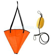 "Sea Anchor Drogue Drift Chute Sock Fits Boat Up To 20' + 29"" Kayak Tow Rope"