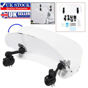 Universal Clip On Motorcycle Windshield Extension Spoiler Wind Screen Deflector