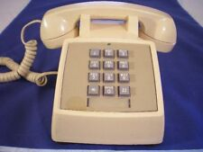 Retro Western Electric Push Button Tan Telephone Table Top