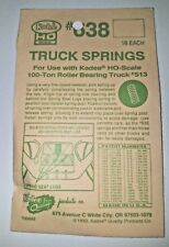 Kadee #638 Truck Springs for #513 Roller Bearing Trucks HO scale