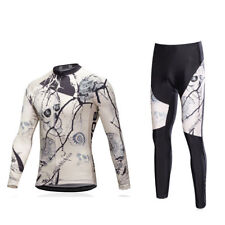 Skull Men's Bicycle Clothing Cycling Long Pants and Long Sleeve Cycle Jersey Set