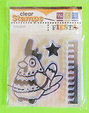 Clear Stamps Fiesta ROOSTER w/ Fancy Designs on Shirt, Star Memory Keepers NIP