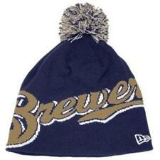 New Licenced MLB New Era Milwaukee Brewers POM Beanie Hat S184