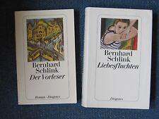 2 x Bernhard Schlink - Der Vorleser + Liebesfluchten, gebunden + Tb