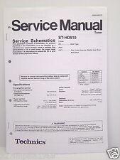 Technics Original Service Manual Schematics ST-HD510 Tuner