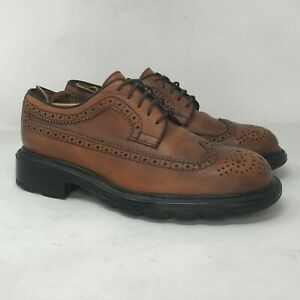 Banana Republic Mens Brown Leather Oxfords Dress Shoes Round Toe Size 8.5 D