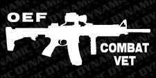 OEF Operation Enduring Freedom Combat Vet AR-15 Sticker Army Marines USA vinyl