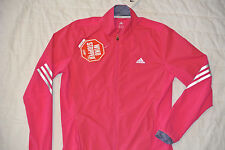New Adidas supernova Women jacket running Pink wind stopper M Light full zip