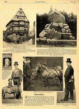 Il nano ovale e il gigante Auger * cavallo con Teckel gambe 1905