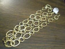 14K Yellow Gold Ladies Unique Link Necklace      15.7 grams     24 Inch Length