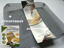 COMBO-quicka CHIPS CESTINO mesh Forno Vassoio per nitide CHIPS + 2 TOAST BAGS